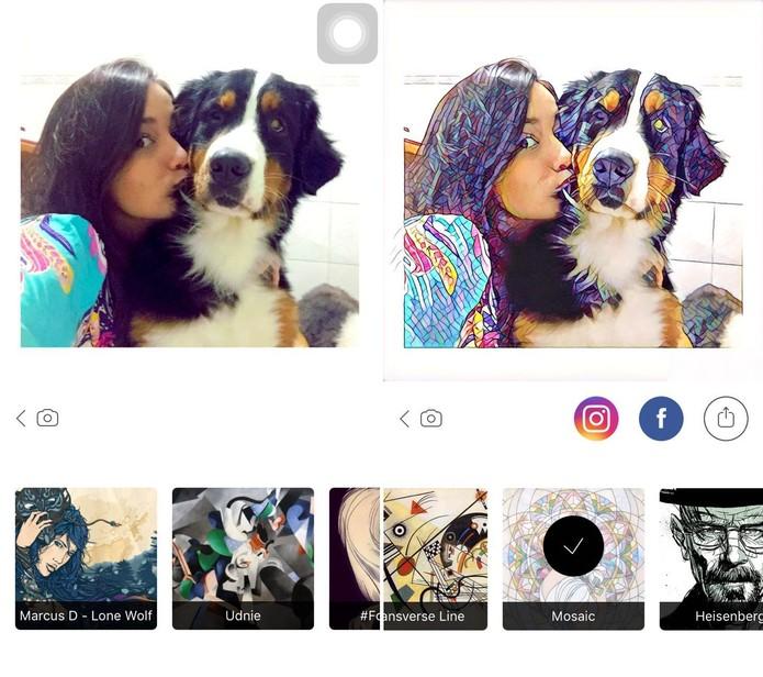 Prisma faz sucesso nas redes sociais (Foto:Reprodução)