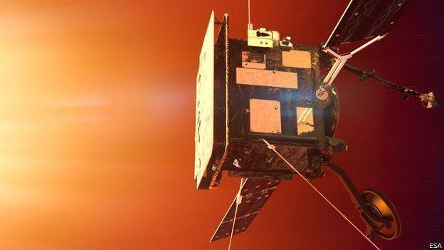A sonda Solar Orbiter será submetida a temperaturas de 520 graus  (Foto: ESA/BBC)