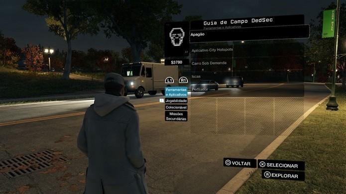 Game tem um tutorial neste menu (Foto: Thiago Barros/Reprodução)