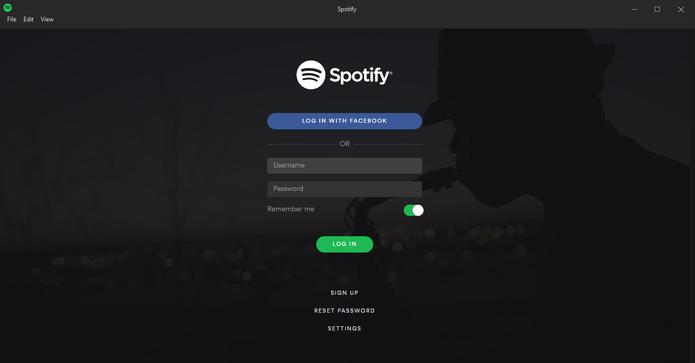 Cadastre-se ou faça login na sua conta do Spotify (Reprodução/Carol Danelli)