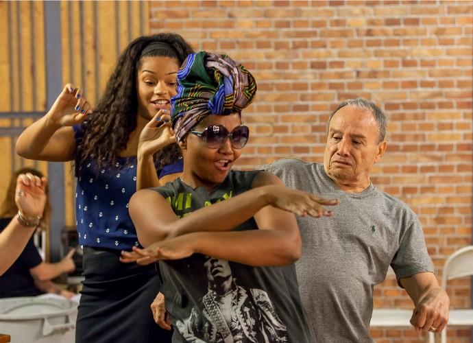 Juliana Alves, Stênio Garcia e Gaby Amarantos no Tomara que Caia (Foto: Artur Meninea/Gshow)