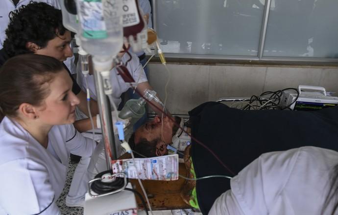 Neto Chapecoense hospital (Foto: AFP)