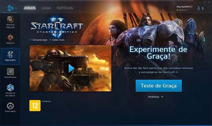 Vá até a página do StarCraft 2 e clique em comprar jogo (Foto: Reprodução/Murilo Molina)
