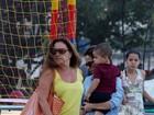 Mãezona, Wanessa brinca com o filho na Lagoa Rodrigo de Freitas