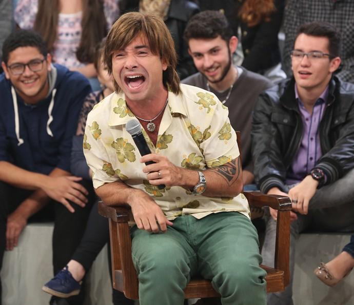 Marco Luque apresenta o personagem Pepê (Foto: Carol Caminha/Gshow)