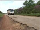 Rodovia na região tem obra 'pela metade' e caminhoneiros reclamam