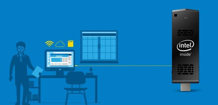Intel Compute Stick vem com conectividades para o dia a dia (Foto: Divulgação/Intel)