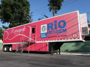 Mamógrafo Móvel (Foto: Natasha Montier/Divulgação Governo do Estado.)