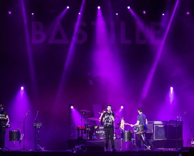 Bastille é a última apresentação do palco Axe (Foto: Inácio Moraes / Gshow)