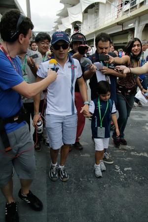Felipe Massa no domingo de GP do Brasil (Foto: Getty Images)