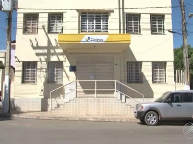 Agência segue fechada na manhã desta terça-feira (19) (Foto: Reprodução / TV Bahia)