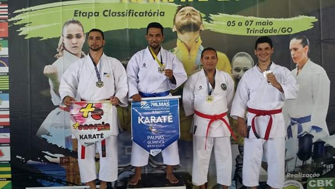 O carateca e pintor classificou em 1º lugar na etapa em Trindade-GO (Foto: Flávio Cirino/Arquivo pessoal)