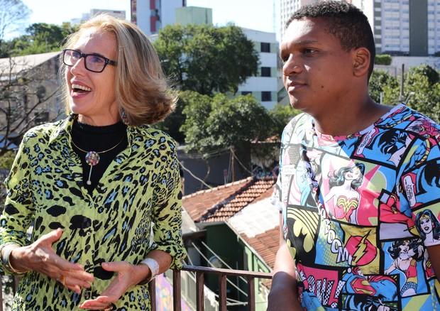 Francesca Romana Diana e Wark Rocinha (Foto: Valéria Grams)