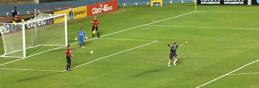Goiás x River-PI: os gols e as  cobranças de pênalti no Serra