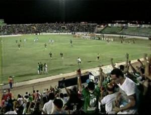 Icasa comemora o gol sobre o Paysandu (Foto: Reprodução/ TV Liberal)