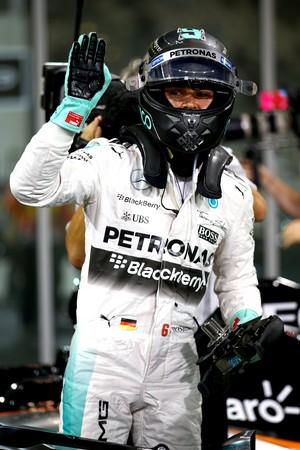 Nico Rosberg após pole no treino classificatório para GP de Abu Dhabi (Foto: Getty Images)