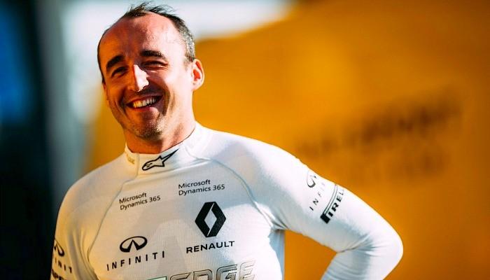 Robert Kubica no teste com a Renault