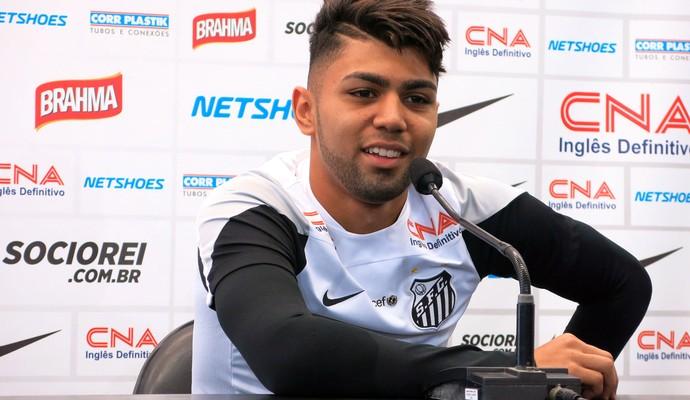 Gabriel do Santos, entrevista coletiva (Foto: Bruno Giufrida)