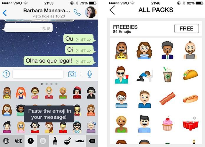 App para iOS aposta na diversidade de estilos em emojis (Foto: Reprodução/Barbara Mannara) (Foto: App para iOS aposta na diversidade de estilos em emojis (Foto: Reprodução/Barbara Mannara))