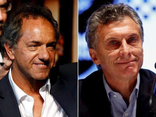 Governista Scioli e oposicionista Macri se enfrentarão em inédito segundo turno presidencial na Argentina  (Foto:  Reuters/Marcos Brindicci)