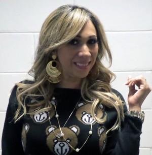 Cantora de forró conta origem do nome artístico (Foto: Gabriella Dias/Gshow)