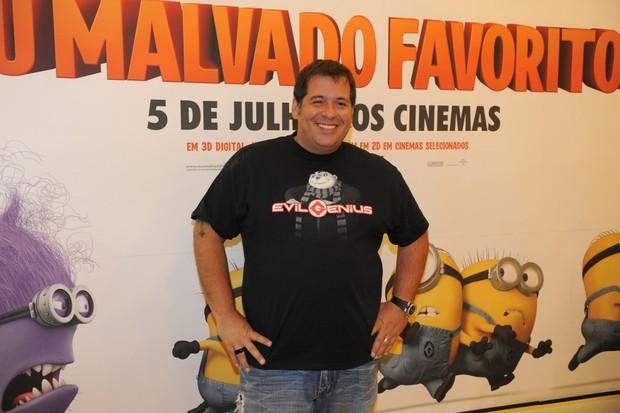 Leandro Hassum na animação 'Meu Malvado Favorito 2' (Foto: Francisco Cepeda/AgNews-SP)