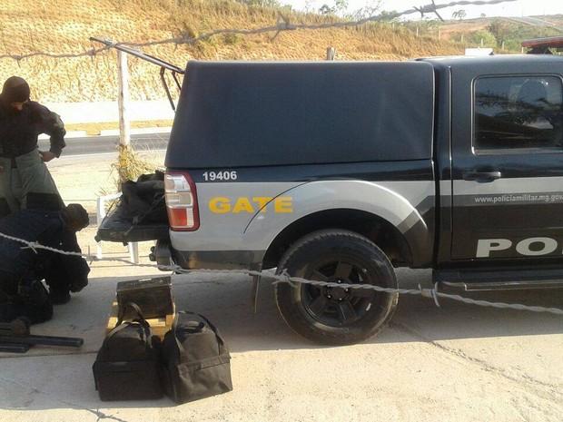 Esquadrão Antibombas em Divinópolis (Foto: PM/Divulgação)