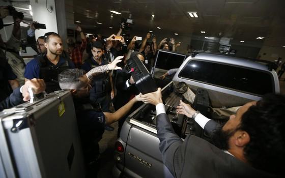 PF cumpre mandados de prisão de policiais  legislativos  (Foto: Pedro Ladeira/Folhapress)