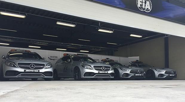 A tropa e elite da FIA para eventuais atuações na pista (Foto: Conexão Saloma)