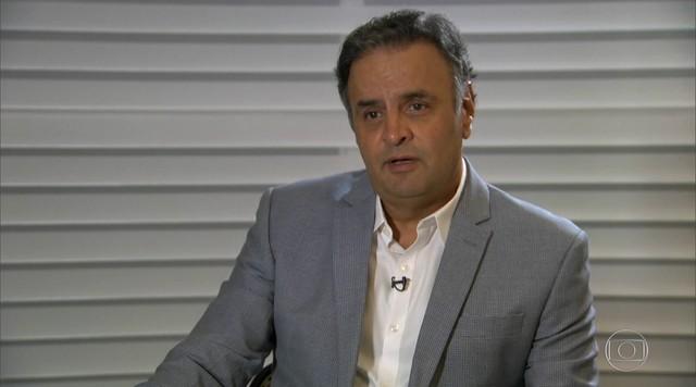 Senador Aécio Neves, do PSDB, presta depoimento na Polícia Federal