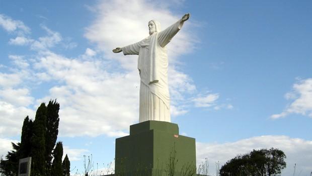 Morro do Cristo, um dos pontos mais altos da cidade de Castro (Foto: Divulgação)