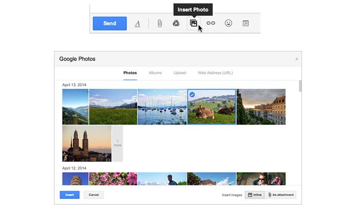 Gmail passa a ter acesso a fotos tiradas com câmeras de smartphones (Foto: Divulgação/Google)