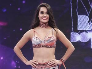 Yanca Guimarães na final do concurso (Foto: gshow)