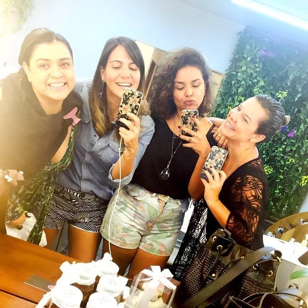 Preta Gil, Craol Sampaio, Juliana de Paulla e Fernanda Souza (Foto: reprodução/instagram)