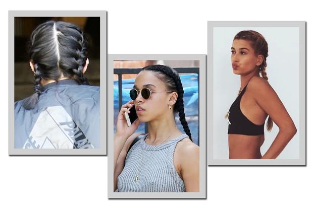 Boxer braid relax: Kylie Jenner, FKA twigs e Hailey Baldwin (Foto: AKM-GSI e Reprodução/ Instagram)