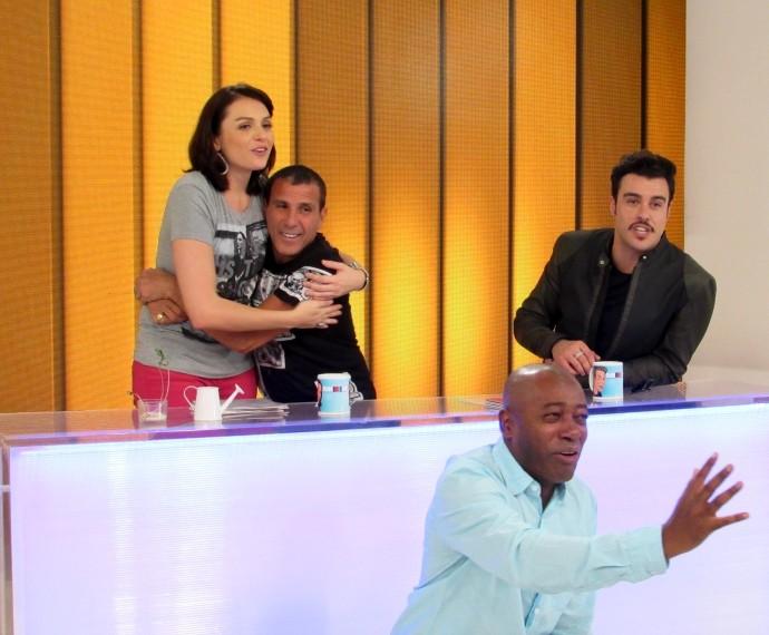 Monica Iozzi, Eri Johnson, Nando Cunha, Joaquim Lopes (Foto: Adam Scheffel/Gshow)