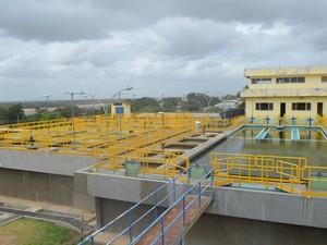 Investimento na construção do Complexo de Tratamento de Água foi de mais de R$ 120 milhões (Foto: Neidiana Oliveira/G1)