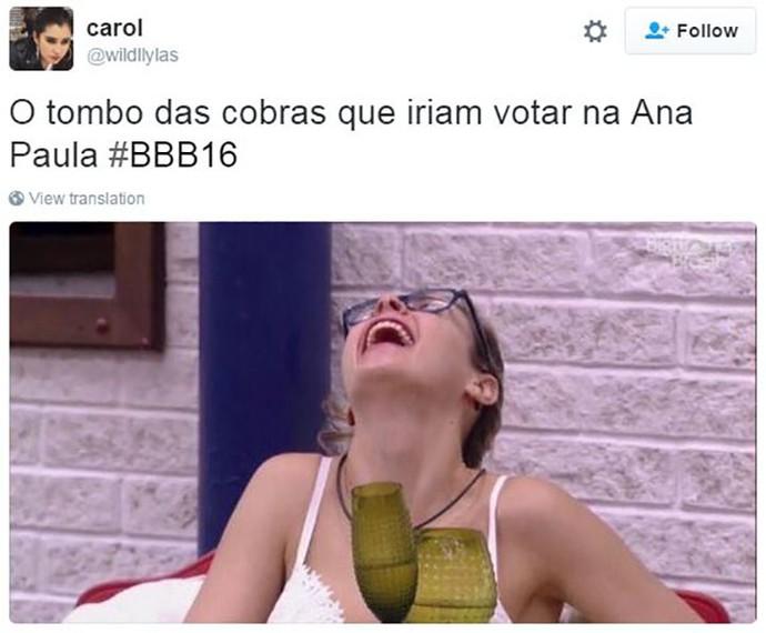post ana paula imune bbb16 (Foto: web)