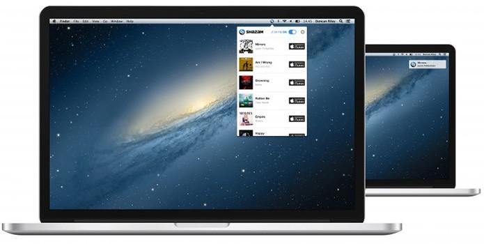 Menu do Shazam no Mac OS X permite comprar músicas na iTunes Store (Foto: Divulgação/Shazam)
