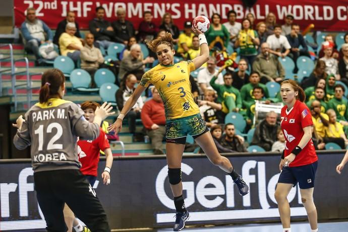 Alexandra no Mundial de handebol da Dinamarca tem Brasil x Coreia do Sul (Foto: Wander Roberto / Inovafoto)