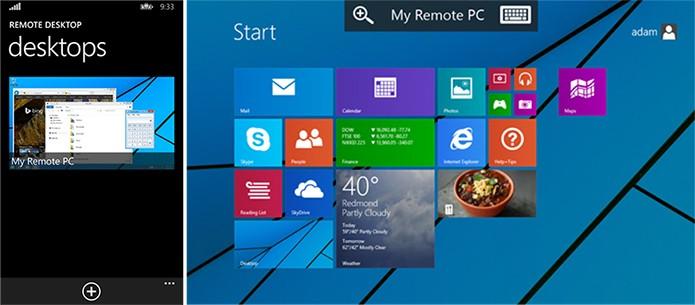 Microsoft Remote Desktop é um aplicativo para Windows Phone 8.1 para controlar o computador (Divulgação/Windows Phone Store)
