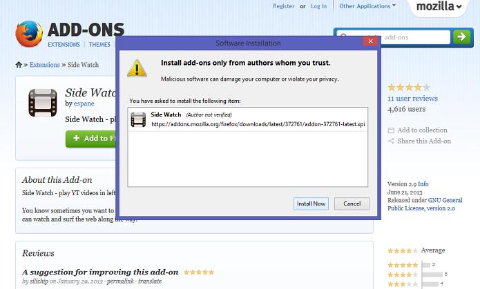Instale a extensão no browser (Foto: Thiago Barros/Reprodução)