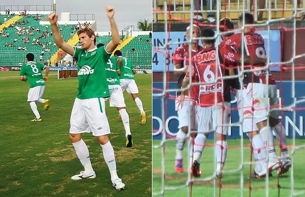Chapecoense está em primeiro lugar na classificação geral e Joinville em quarto (Foto: Diego Carvalho/Aguante Com.//Divulgação/JEC)