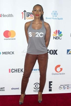 Mel B em evento beneficente em Los Angeles, nos Estados Unidos (Foto: Valerie Macon/ AFP)