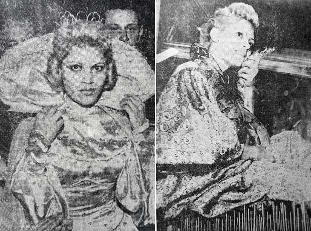 """Verinha com seu traje das exibições, """"mistura de santa e odalisca de carnaval"""" (Foto: Divulgação)"""