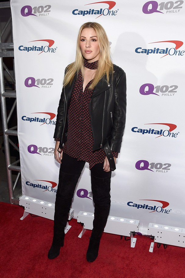 Ellie Goulding no tapete vermelho do Q102's Jingle Ball 2016 (Foto: Getty Images)