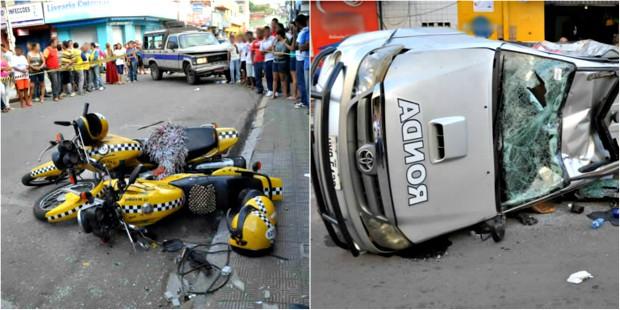 Motorista de caminhonete fugiu após acidente. Ele foi encontrado em casa, no Crato. (Foto: Michel Dantas/Agência Miséria)