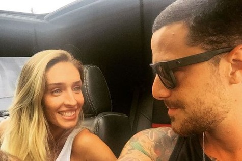 Felipe Titto e a mulher, Mel Martinez (Foto: Reprodução)