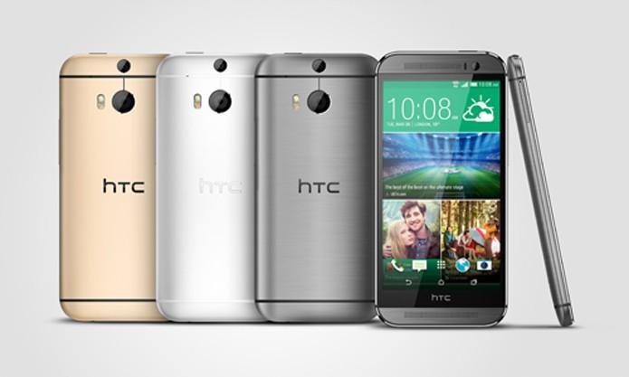 HTC One M8 é um top de linha com Android 4.4 e duas câmeras traseiras (Foto: Divulgação/HTC)