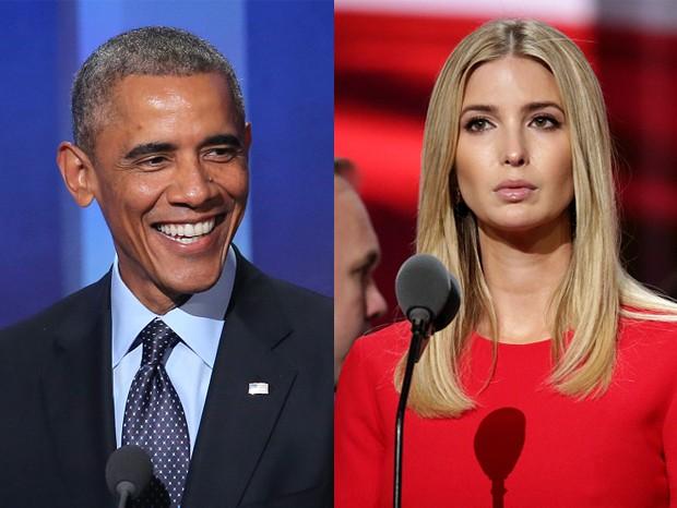 Barack Obama e Ivanka Trump (Foto: Getty Images)